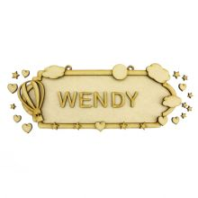 MDF Wood DIY Craft Shapes Room Door Wall YOUR NAME Sign Plaque – Balloon